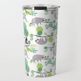 Happy Sloth Jungle Party Travel Mug