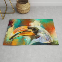 Colorful Expressions Toucan Rug