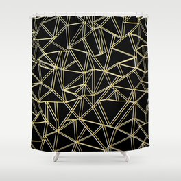 Ab Gold and Silver Shower Curtain