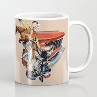 western Mugs featuring Western by Lerson