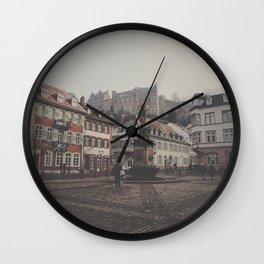 Castle Views in Heidelberg Wall Clock