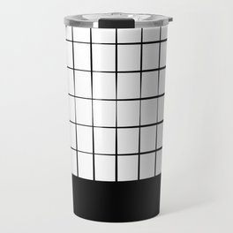 Black Grid Travel Mug