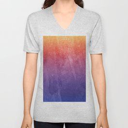 Tie Dye Pinks, Purples, Oranges, Red, And Yellow Prints Unisex V-Neck