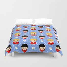 Merlin and Arthur and Daisies Duvet Cover