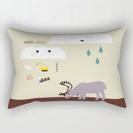 Rain dear Rectangular Pillow