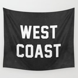 West Coast - black version Wall Tapestry