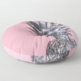 Pink And Silver Pineapple Floor Pillow