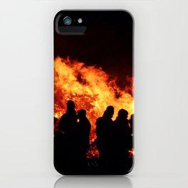 Bonfire burning iPhone Case