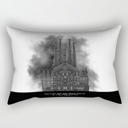 HexArchi - Spain, Barcelona, Basilica and Expiatory Church of the Holy Family Rectangular Pillow