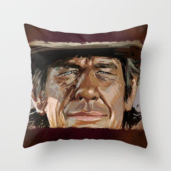 Harmonica Man Throw Pillow