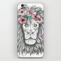 the lion king iPhone & iPod Skins featuring Lion King by Sorasoraya