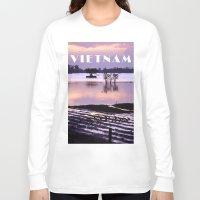 vietnam Long Sleeve T-shirts featuring MEKONGDELTA - VIETNAM  by CAPTAINSILVA