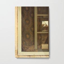 lace curtains in alacati Metal Print