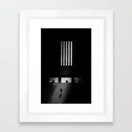 black white photo Framed Art Print