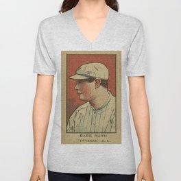 Babe Ruth Yankees Unisex V-Neck