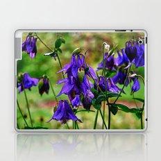 Purple Petals in the Rain Laptop & iPad Skin