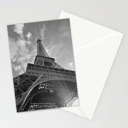 Black and White Eiffel Tower Stationery Cards