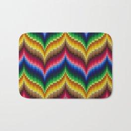 Bargello Quilt Pattern Impression 1 Bath Mat