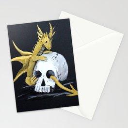 Gold Dragon & Skull Stationery Cards