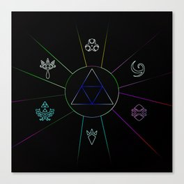 The Triforce Of Symbol Canvas Print