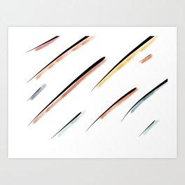 Stripped Lines Art Print