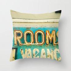 Rooms Neon Sign Throw Pillow