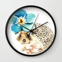 When life gets a little prickly, put a flower on it Wall Clock