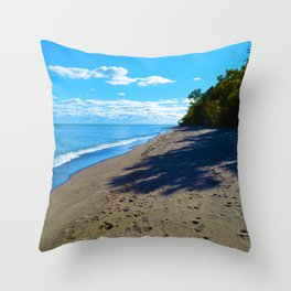 Point Pelee National Park Trails in  Leamington, Ontario, Canada Throw Pillow