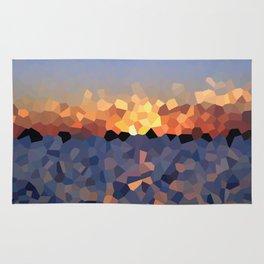 Sunset at the Lake Rug
