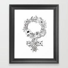 Feminist Flower  2.0 Framed Art Print