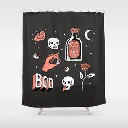 Skeleton Spooky Boye Shower Curtain