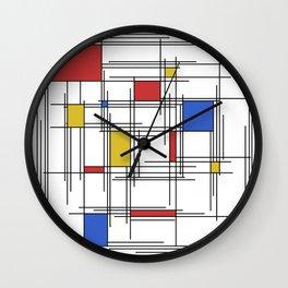 Mondrian Scratch Art 1 Wall Clock