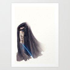 Secret Jedi Kisses Art Print