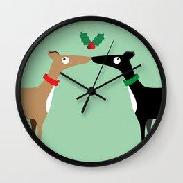 Hound Kiss Wall Clock