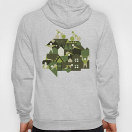 Indoors & outdoors (green camo) Hoody