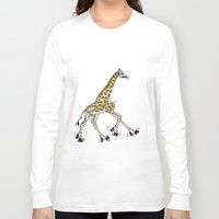 roller derby Long Sleeve T-shirts featuring Giraffe Roller Derby by Twisted Tone