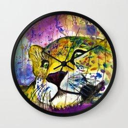 Daydreaming Leopard Wall Clock
