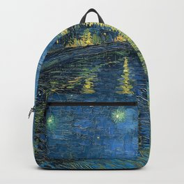 Starry Night Over the Rhône by Vincent van Gogh Backpack