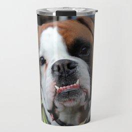 Boxer dog friend Travel Mug