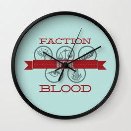 Faction Before Blood Wall Clock