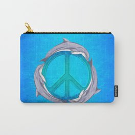 Dolphin Peace Carry-All Pouch