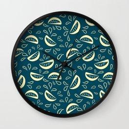 Abstract Lemonade 3 Wall Clock