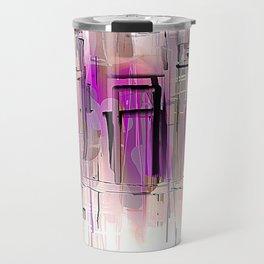 City in Purple and Blush Travel Mug