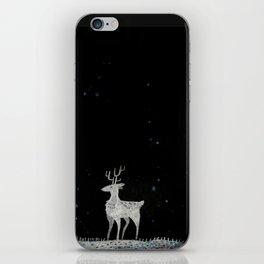 Deer in snow iPhone Skin