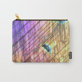 Golden Labradorite Agate Gemstone Carry-All Pouch