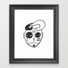 Skull Boy Framed Art Print