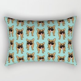 Black Mask Fawn French Bulldog is ready to play Rectangular Pillow