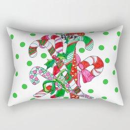 Candy Cane Party Rectangular Pillow