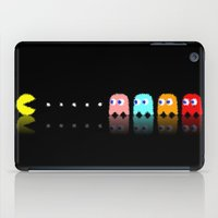 pac man iPad Cases featuring Pac Man by Emma Kennedy