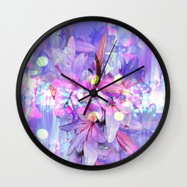 LILY IN LILAC AND LIGHT Wall Clock